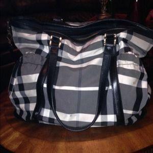 9a6674d21c7c Women s Burberry Black And White Check Handbag on Poshmark